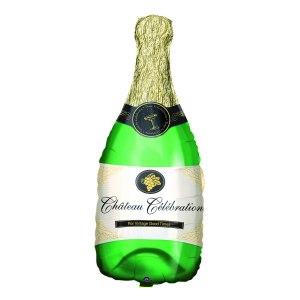 """Heliumballong """"champagneflaska"""""""