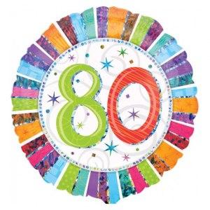 Heliumballong för 80-årsdagen