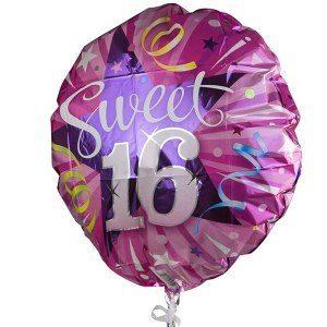 """Heliumballong """"Sweet 16"""""""