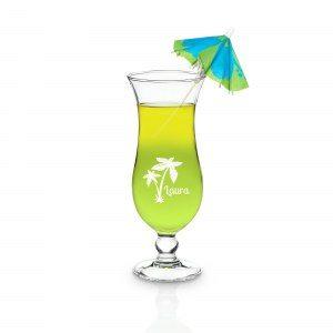 Hurricane cocktailglas med gravyr