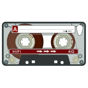 "iPhone 4-fodral ""kasettband"""