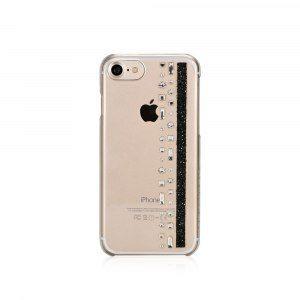 """iPhone 7 skal """"Jet"""" med Swarovski® Kristaller"""