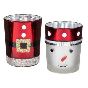 Jul-värmeljushållare av glas