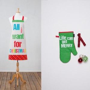 Julförkläde och grytvante