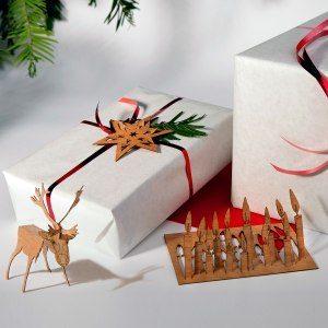 Julkort av trä
