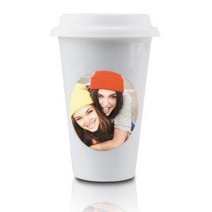 Kaffeebecher to go mit Foto