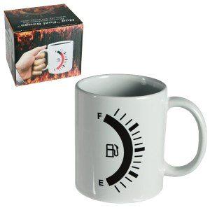 Kaffekopp med bränslemätare