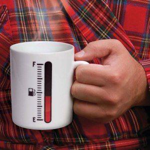 Kaffekopp med tankmätare