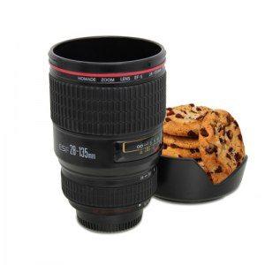 Kameraobjektiv-mugg