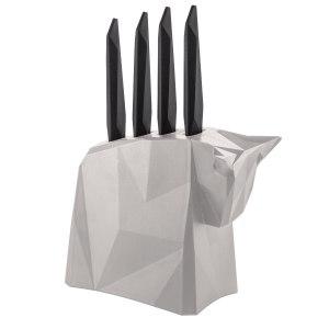 """Knivblock """"Pablo"""" inklusive 4 stekknivar"""