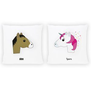"""Kudde """"Häst"""" eller """"enhörning"""" med namn"""