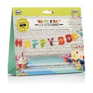 LED Happy Birthday Banner