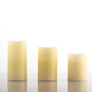 LED-ljus med riktigt vax - Set med 3
