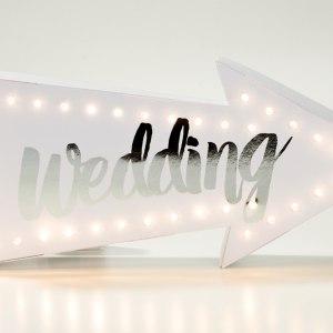 """LED-skylt """"bröllop"""""""