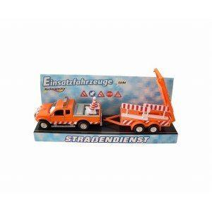 Leksak-utryckningfordon med vagn