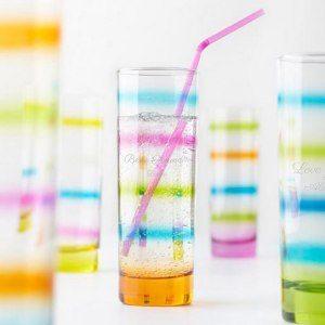 Leonardo: färglatt longdrink-glas med gravyr