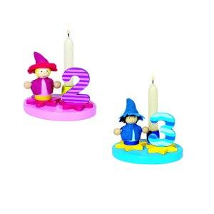 """Kerzenständer """"Geburtstag"""" mit austauschbaren Zahlen"""