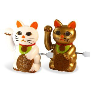 Lucky Cats: uppdragbara lyckokatter, 2 st