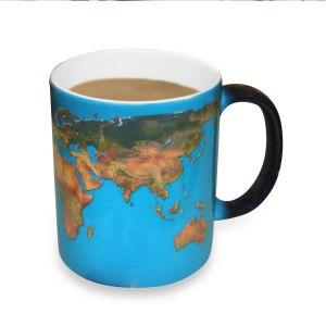"""Magisk kopp med färgväxling - """"världen"""""""
