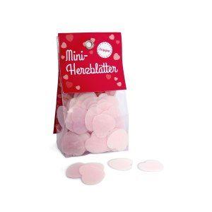 Mini-Herzblätter - Erdbeer-Esspapier
