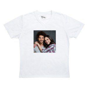 Mit persönlichem Foto: Damen-T-Shirt bedrucken