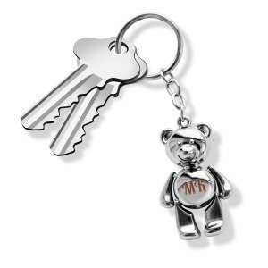 Nyckelring med gravyr – björn