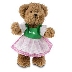 Oktoberfest-björn som bär klänning med namn