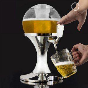 Ölballong- dryckeshållare och kylare i ett
