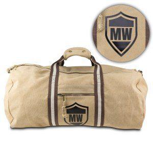 Oval resväska med initialer