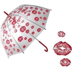 Paraply med kyssmun