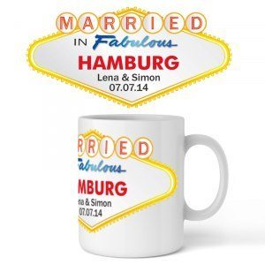 Personlig bröllopsmugg med tryck