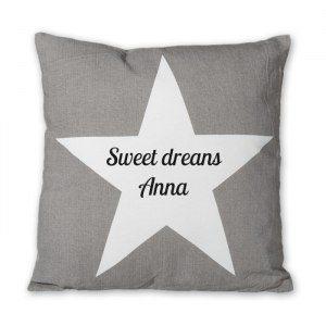 Personlig kudde med stjärna