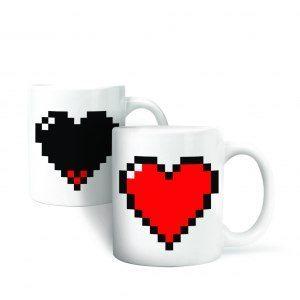 Pixelhjärta Mugg som skiftar färg