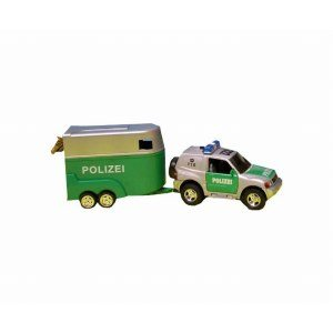 Polisbil med hästvagn