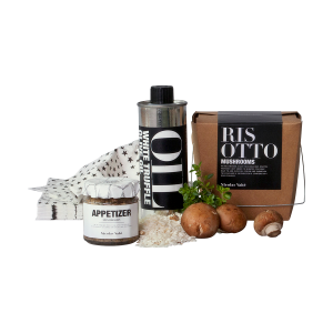 Presentbox med ingredienser till tryffelrisotto