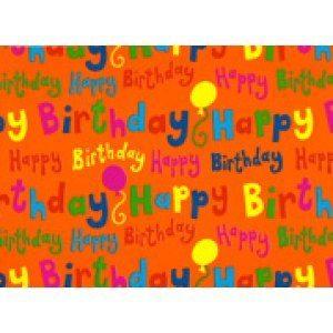 Presentpapper Happy Birthday