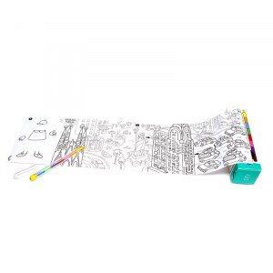 Rese-fickspel med målarbok och färgpenna