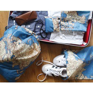 Resväska set - Världskarta