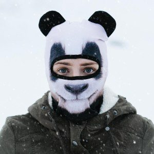 Roliga skidmasker med djurmotiv