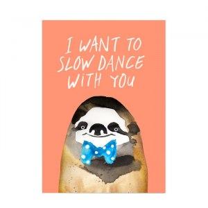 "Roligt konsttryck ""Slow dance"""