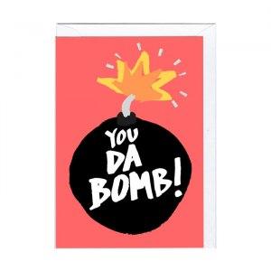"""Roligt kort """"Da Bomb"""""""