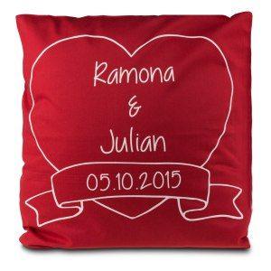 Romantisk kudde med namn