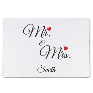 "Romantisk musmatta ""Mr & Mrs"""
