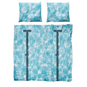 Sängkläder för dubbelsäng swimmingpool