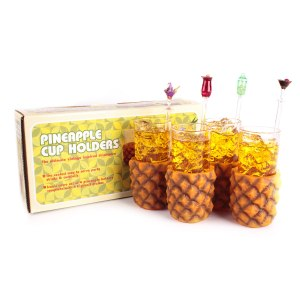 "Set 4 st: glashållare ""ananas"""