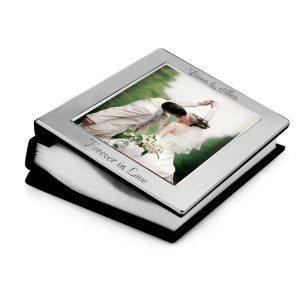 Silver fotoalbum med gravyr