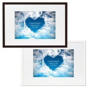 Sjunde himlen – inramad bild med personligt meddelande