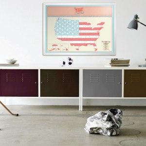 Skrapbar USA karta