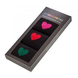 Sockor med hjärtan