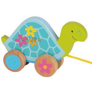Söt drag-sköldpadda med gravyr